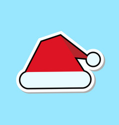 red santa claus hat icon isolated christmas vector image