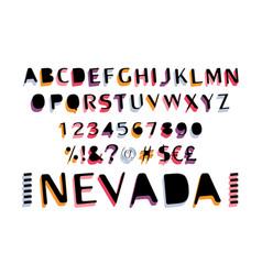 Retro bold font vector
