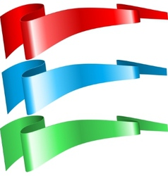 RGB ribbons vector image