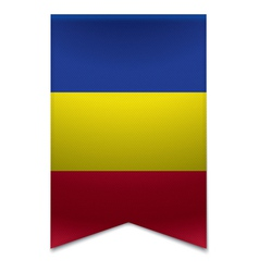 Ribbon banner - andorran flag vector