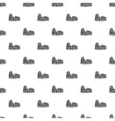 Roman Colosseum pattern simple style vector