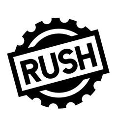 Rush black stamp vector