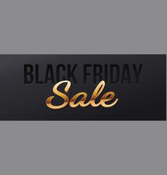 sale banner for black friday golden volumetric vector image