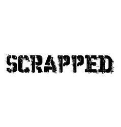 Scrapped typographic stamp vector