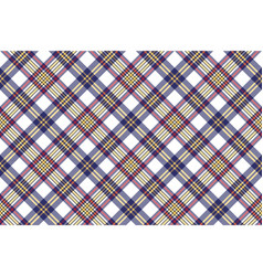 Seamless pattern white blue check plaid vector