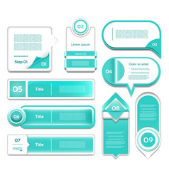 set of turquoise progress version step ic vector image