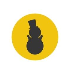 Snowman silhouette icon vector