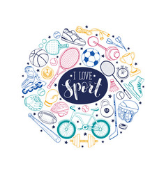 sport circle composition vector image