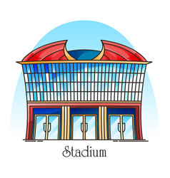 sport stadium in thin line competition building vector image