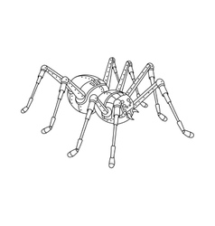 Steampunk style spider coloring book vector