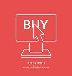 Store Online vector image