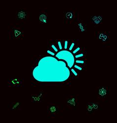 sun cloud icon graphic elements for your designt vector image