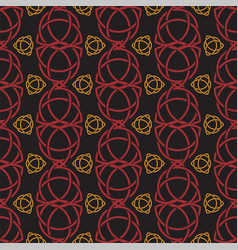 Triquetra trefoil seamless pattern red and orange vector