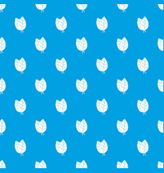 two basil leaves pattern seamless blue vector image