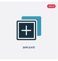 Two color duplicate icon from programming concept vector