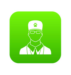 veterinarian icon digital green vector image