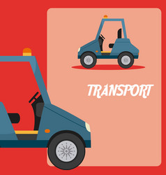 Warehouse cart transport vehicle vector