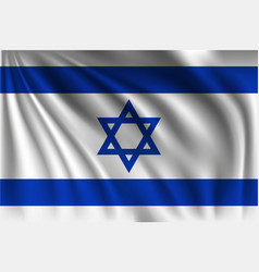 Waving israel vector