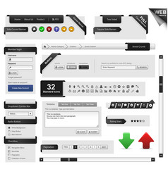 web design element template a complete set of web vector image