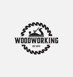 Woodworking logo design template isolated vector