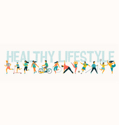 World health day tempale with leading an vector