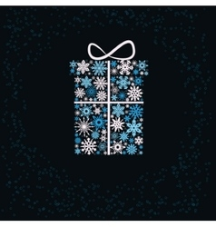 Christmas gift box from snowflakes vector image vector image