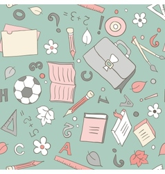 Seamless school background vector image vector image