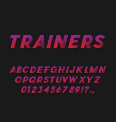 sport style bold italic font sans serif typeface vector image vector image