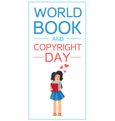 world book and copyright day vector image