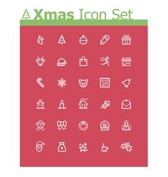 Xmas icon set vector image