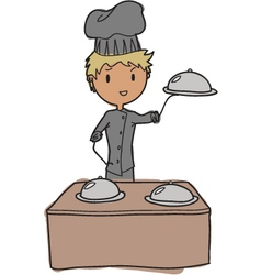 young chef vector image vector image
