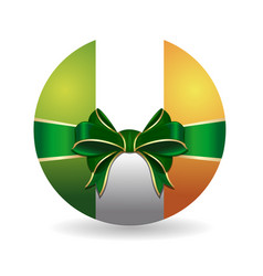bowl painted in the colors of the irish flag vector image