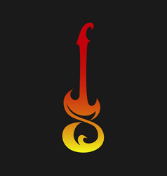 electric guitar symbol icon vector image