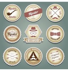 Hipster paper labels vector image vector image