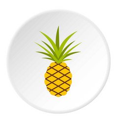 pineapple icon circle vector image vector image