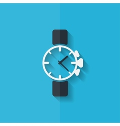 Watchclock icon Flat design vector image
