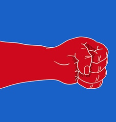Angry Red Fist vector image
