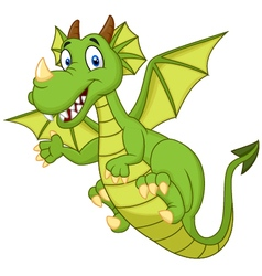 Cute cartoon dragon vector image vector image