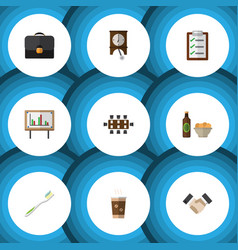 flat icon oneday set of cappuccino dental vector image vector image