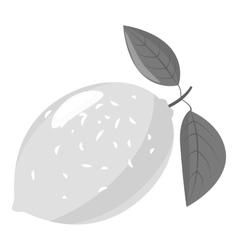 Lemon icon gray monochrome style vector image
