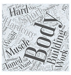 Hardcore body building word cloud concept vector