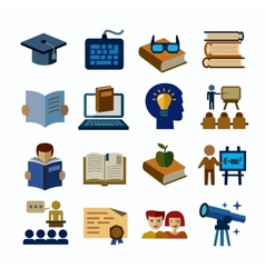 higher education icons vector image