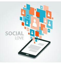 social icon group element flirtation vector image