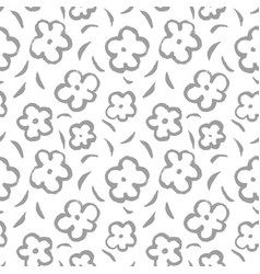 summer seamless pattern with leaves and flowers vector image vector image