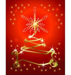 abstract holiday ribbon tree background vector image
