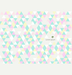 abstract of sweet colorful triangles patterns vector image