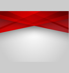 Abstract technology geometric red color shiny vector