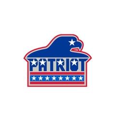American bald eagle usa flag retro vector