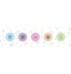 Amusement icons vector