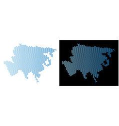 asia map hexagon scheme vector image